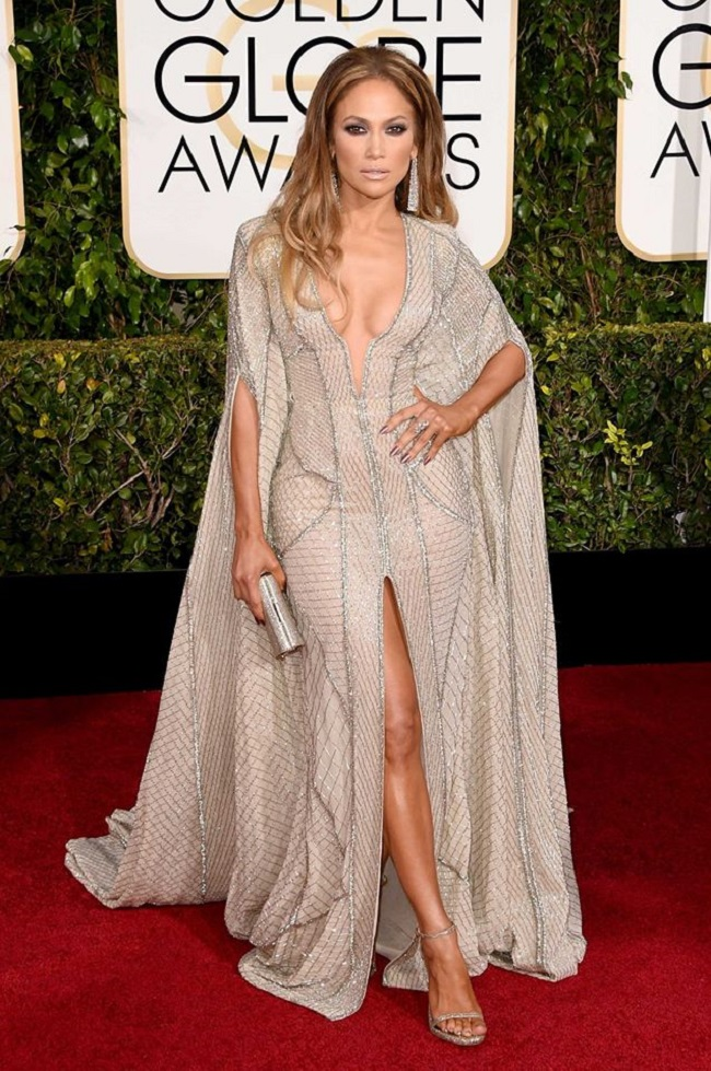 Jennifer Lopez robe Golden Globes 2015