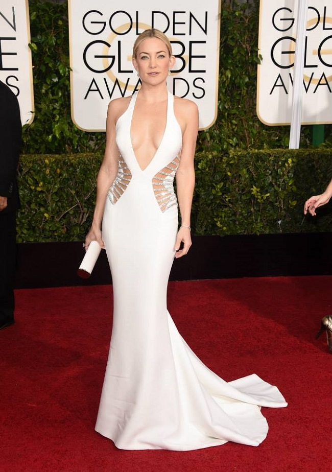 Kate Hudson robe Golden Globes Awards 2015