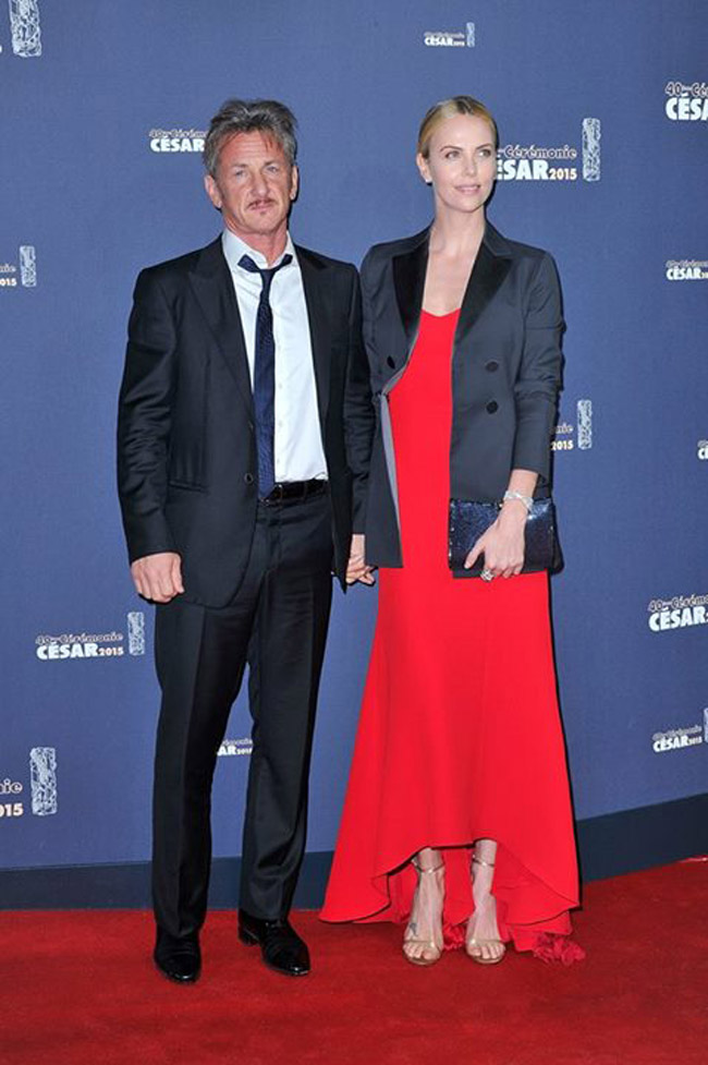 Charlize Theron et Sean Penn aux Césars