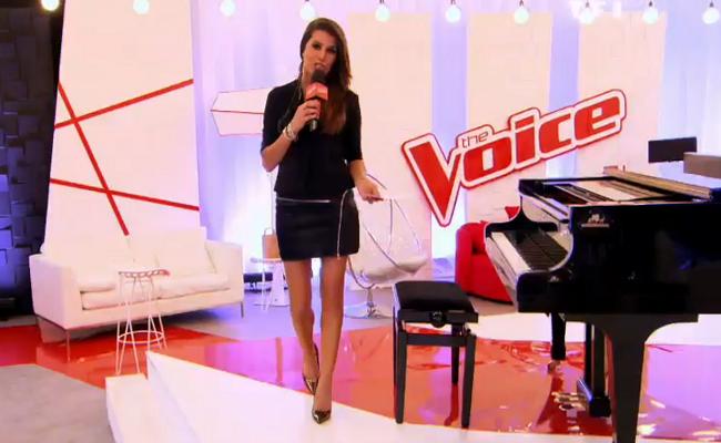 Le look de Karine Ferri lors des auditions à l'aveugle de The Voice 2015
