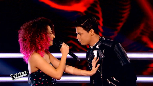 Dalia contre Yann'sine The voice