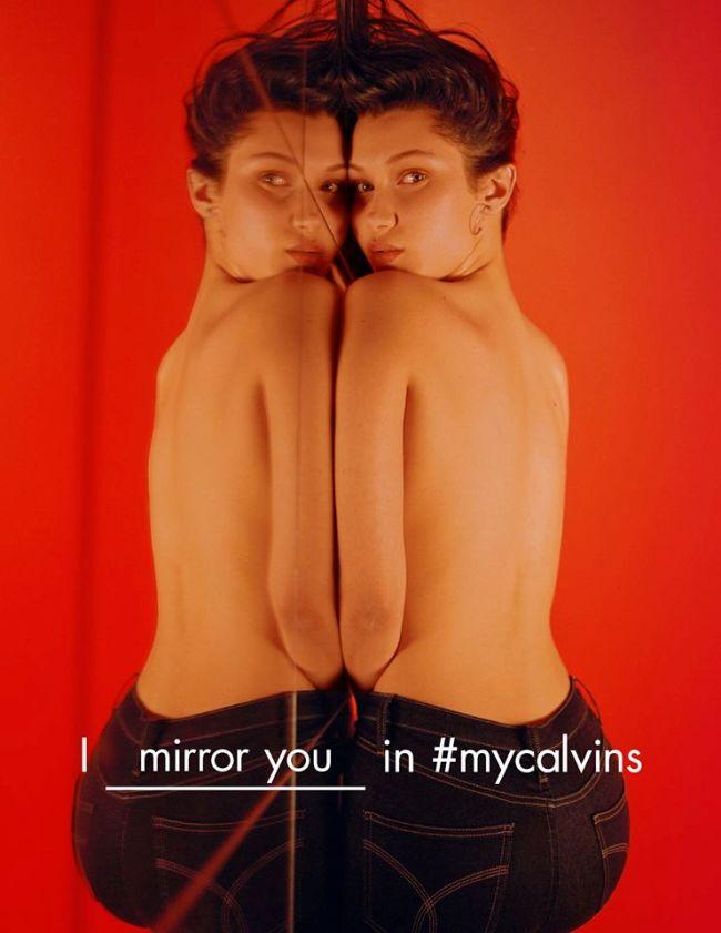 Bella Hadid pour Calvin Klein Jeans Automne 2016 © Calvin Klein