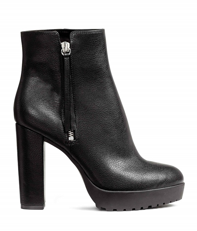 Bottines imitation cuir