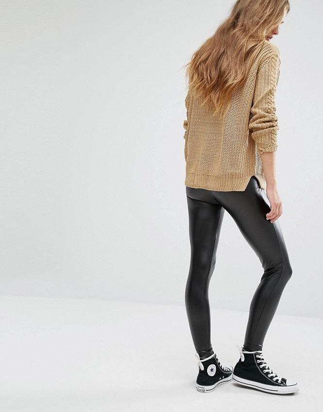 Pantalon cuir pour un look casual